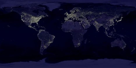 View The Earth at Night 2400x1200 NASA